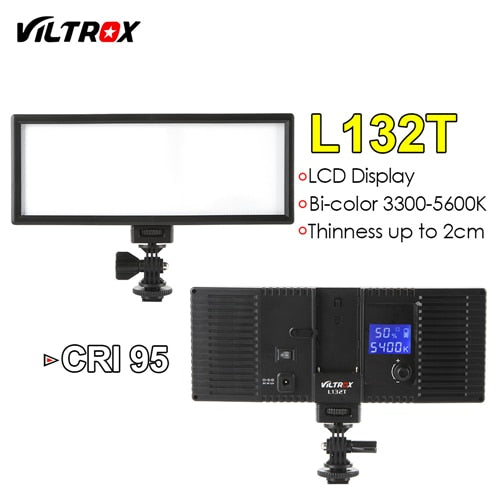 Viltrox L132T LCD Bi-Color Dimmable Slim Portable Handheld DSLR Free - Desire Lust Sex LoveHoney