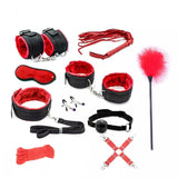 Sex Handcuffs Bdsm Bondage Set Whip Slave Mouth Gag Eye Mask Free - Desire Lust Sex LoveHoney
