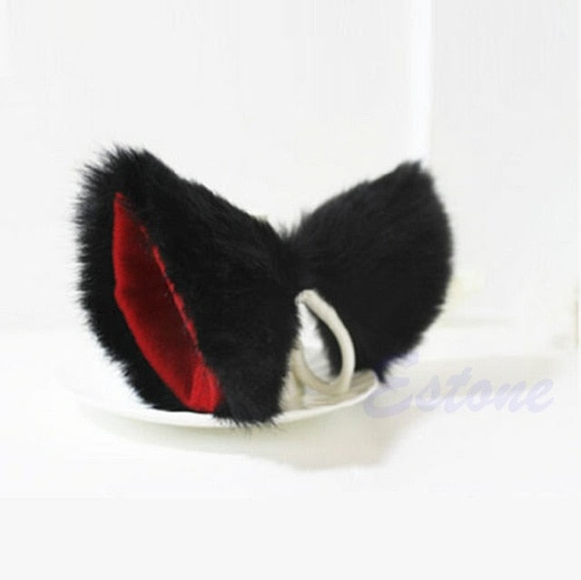 Cosplay Party Cat Fox Long Fur Ears Neko Costume Hair Clip Halloween Free - Desire Lust Sex LoveHoney