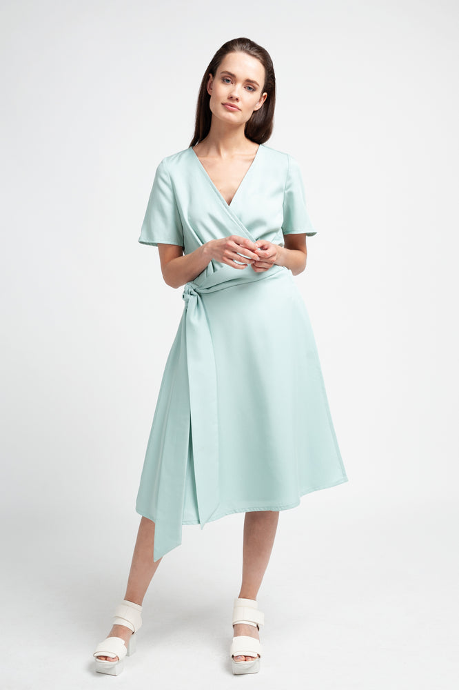 ALICIA DRESS - Mint 100% Tencel