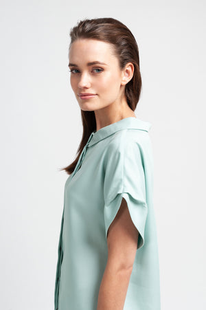MELBA Blouse aus Tencel - Mint