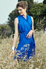 Dress Helen - Mare e monti - royalblau