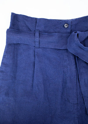 Paperbag Pants GITA - royalblau
