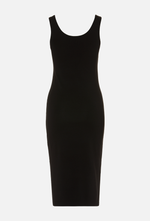 ALEK SLIP DRESS - Cotton Black