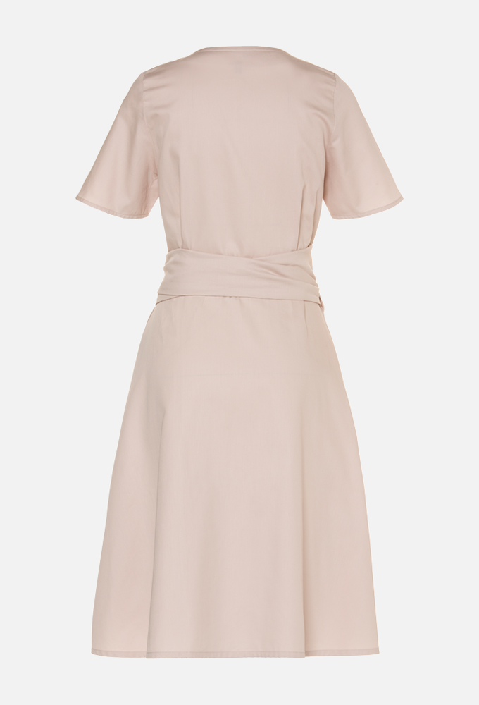 ALICIA DRESS - Satin Almond