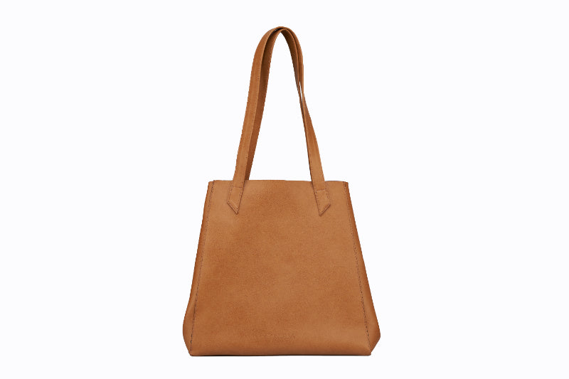 Vegan Hybrid Tote - Camel brown