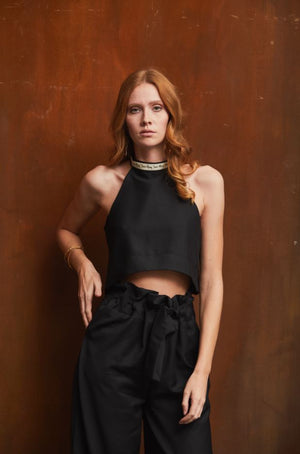 YUNA Crop Top - Black
