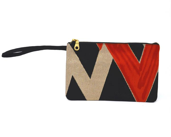 High Voltage - Handmade Vintage Silk Wristlet