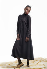 FILIPA Viscose Dress - Black