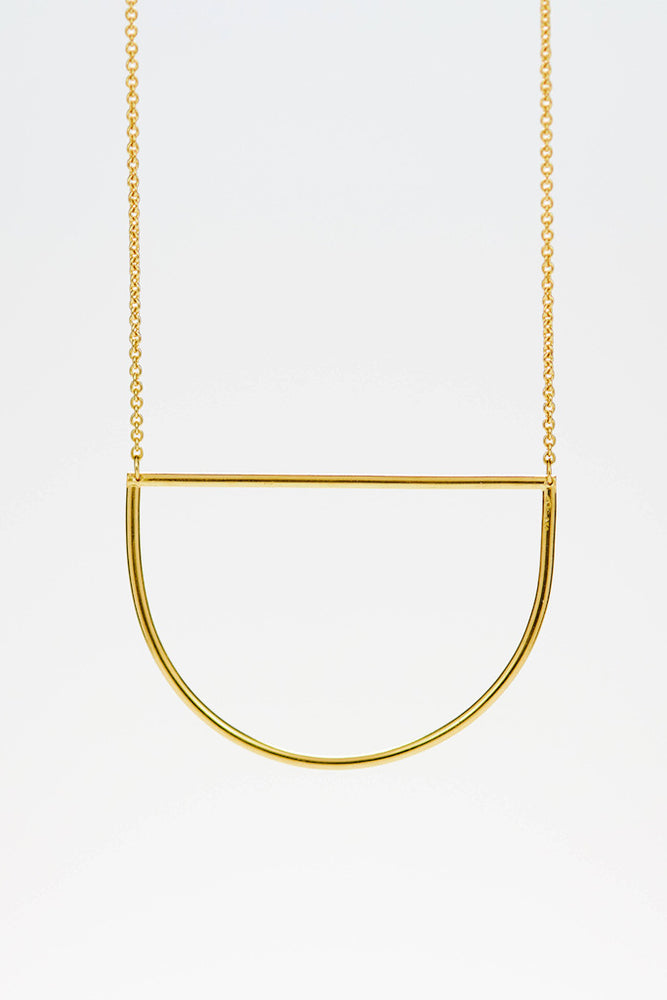 Circles Necklace - Goldplattiert