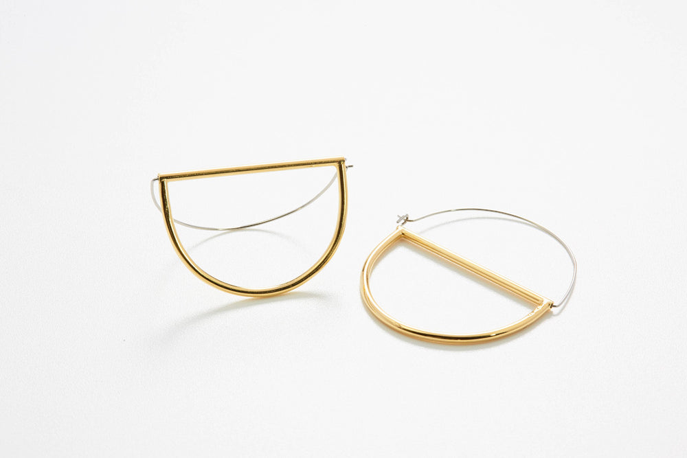 Circles Large Hoops - Goldplattiert