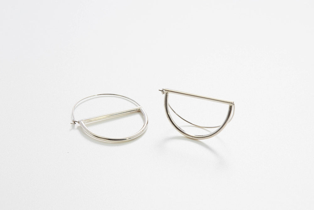Circles Small Hoops - Silber