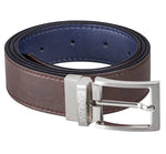 Reverse Vegan Belt – blue/brown