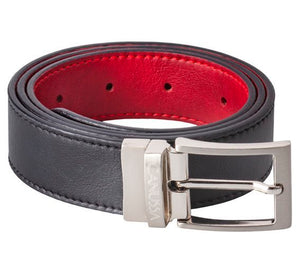 Reverse Vegan Belt – black/red