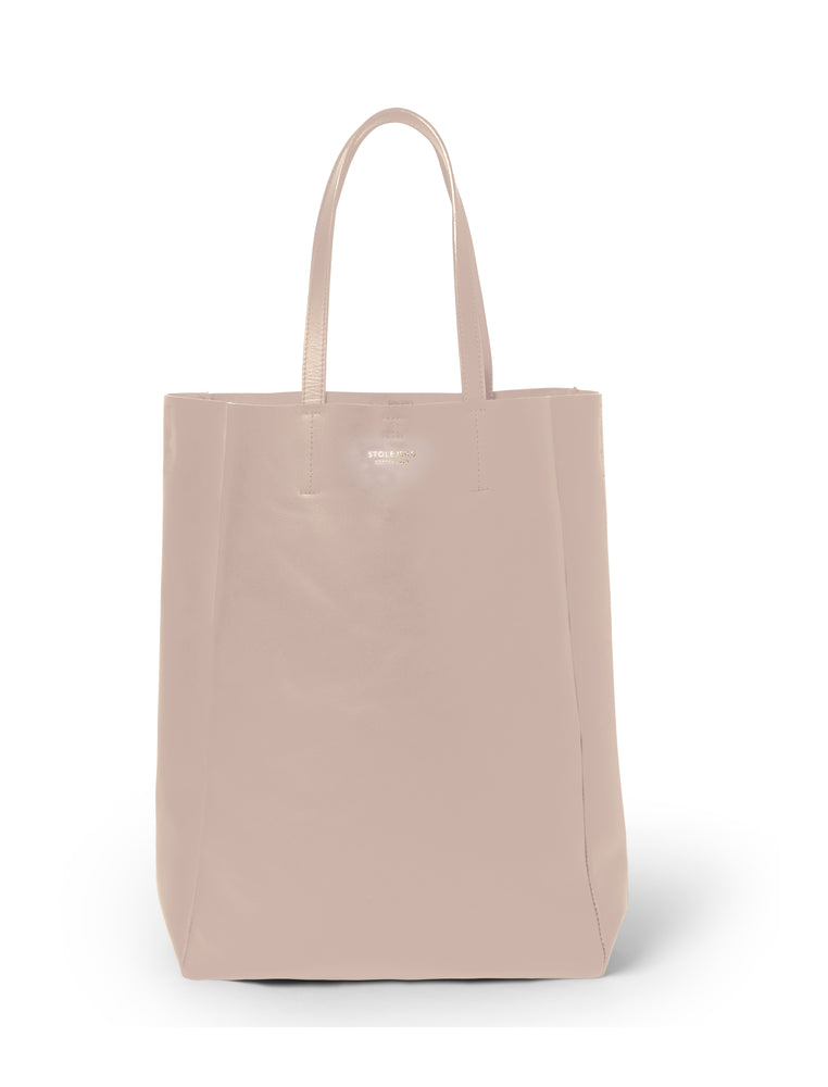 SHOPPER - TALL BLUSH SKIN WITH BRASS DETAILS - BLUSH