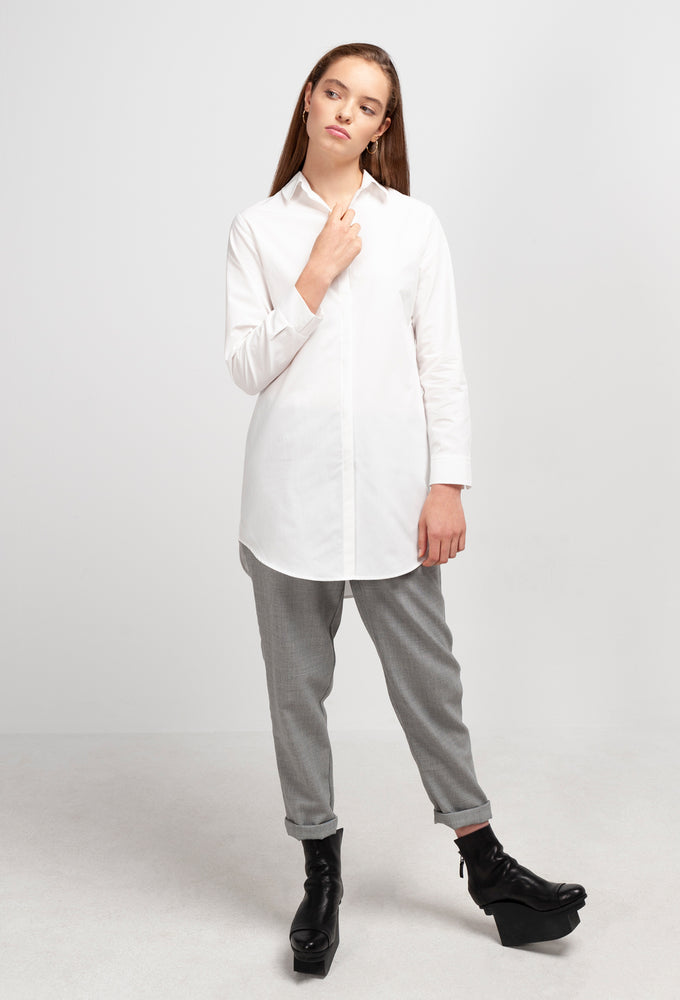 JOAN Long Blouse white