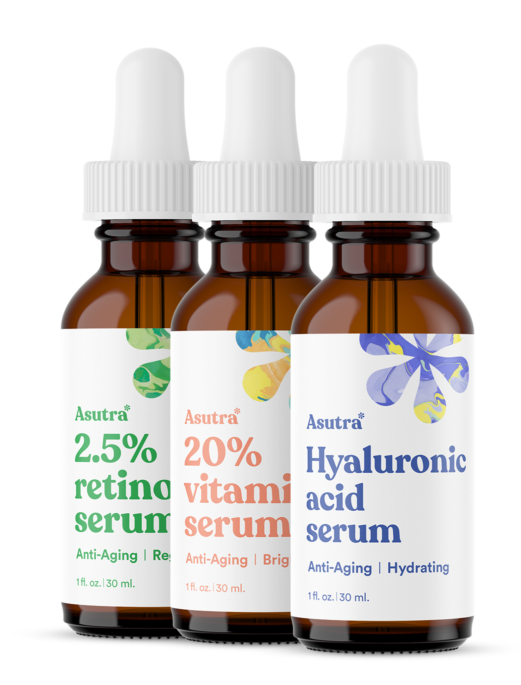 Anti-Aging Serum Variety Set, 3 Bottles