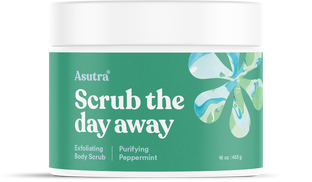 Asutra organic gentle exfoliating body scrub moisturizing safe for sensitive skin
