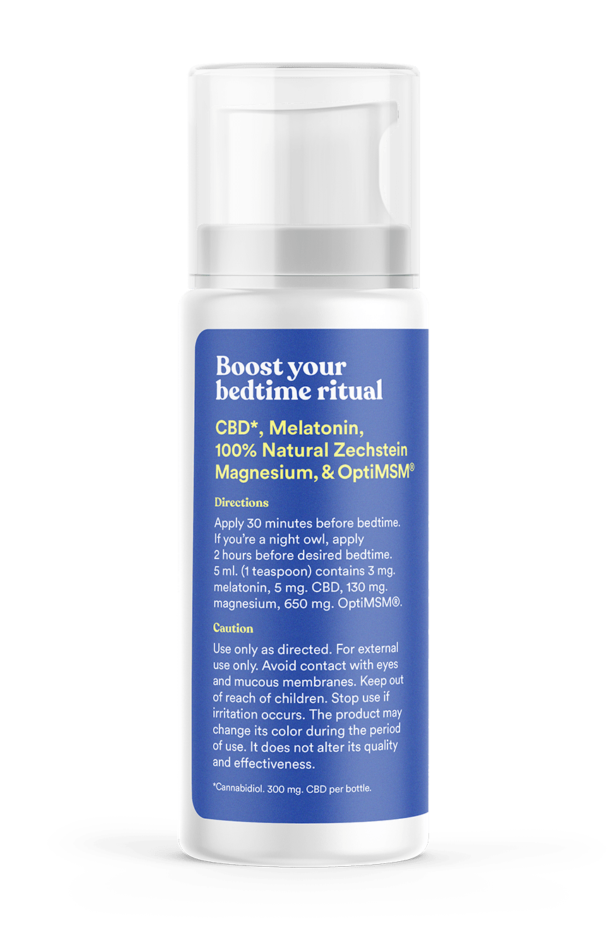 CBD Melatonin Lotion with Magnesium