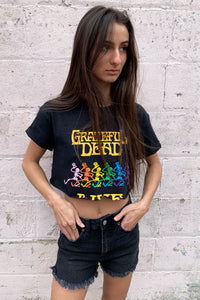 Grateful Dead Skeletons Cropped Tee