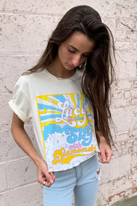 Lucy In the Sky Cropped Tee