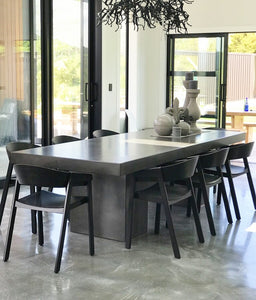 CONCRETE DINING TABLES RECTANGLE (GRC) 260cm & 290cm LENGTH x 110cm WIDTH