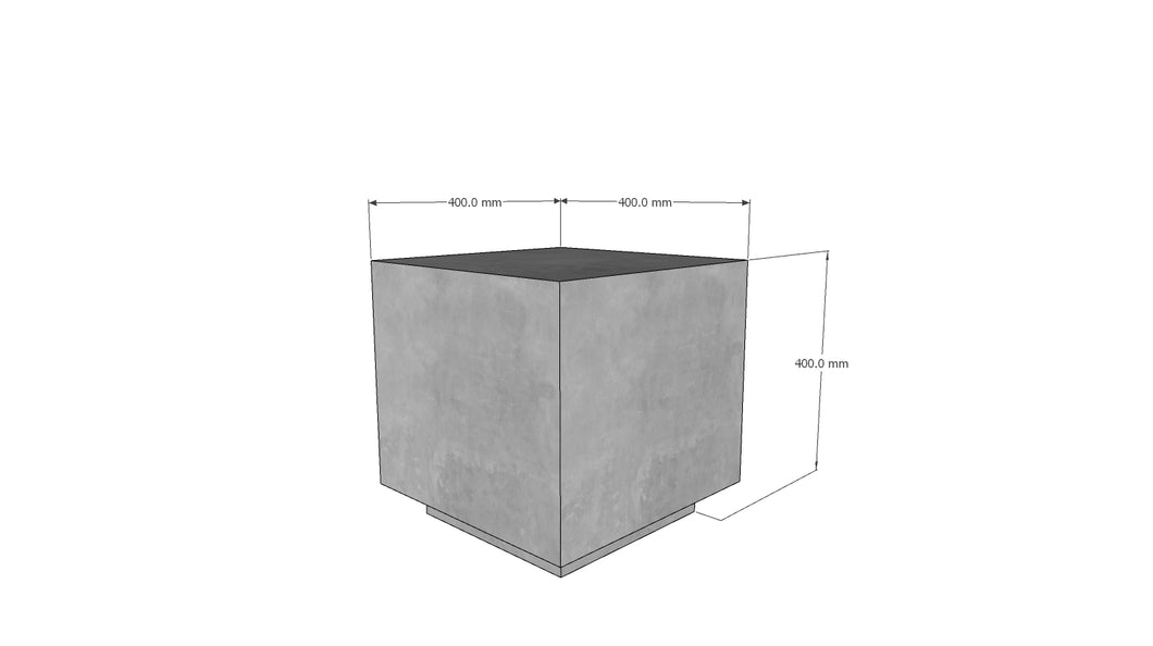 CONCRETE SIDE/END TABLE - BABY SQUARE 40cm HEIGHT