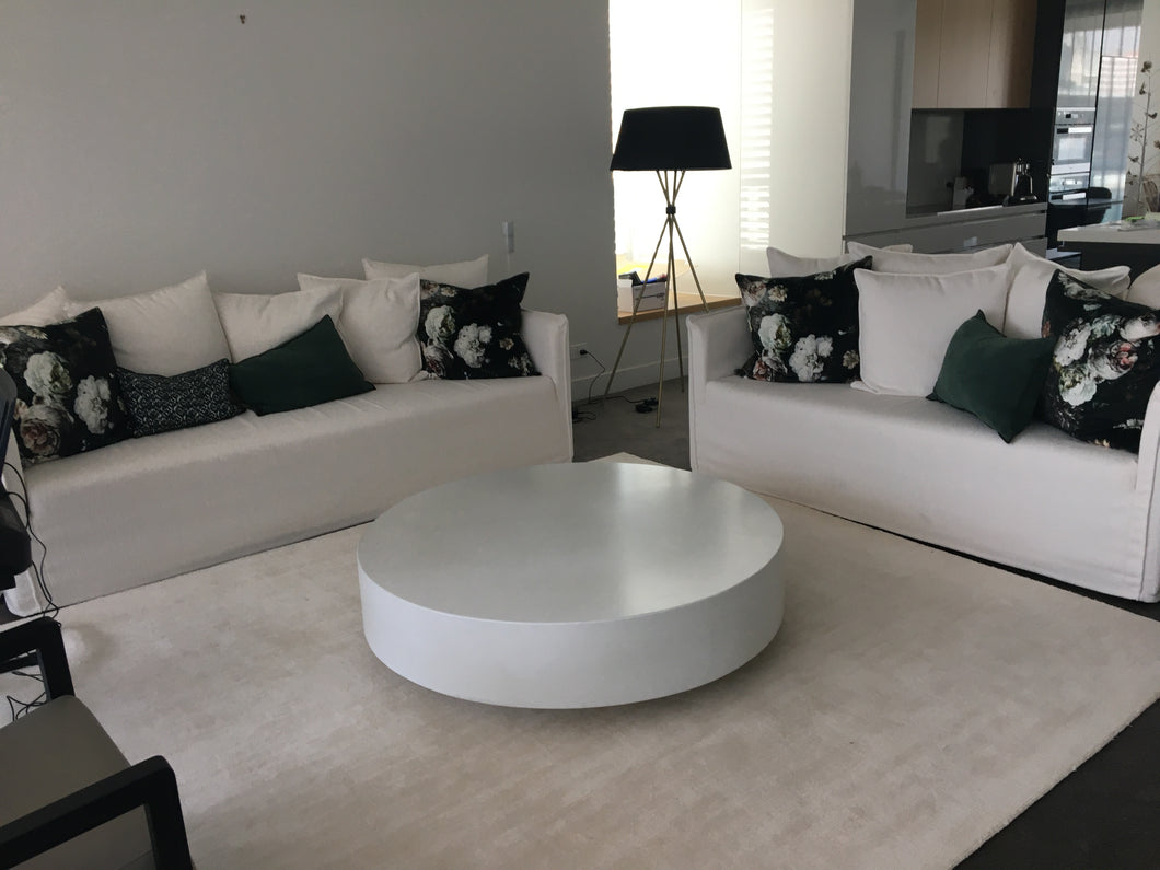 CONCRETE COFFEE TABLE ROUND 'TIERED' (GRC) 120cm x 30cm HEIGHT