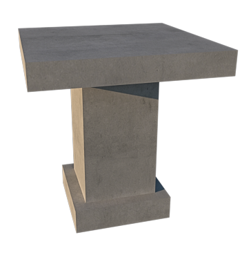 CONCRETE CAFE' DINING TABLES (GRC) 70cm SQUARE