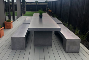 CONCRETE BENCH SEATING