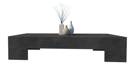 CONCRETE COFFEE TABLE LOW RECTANGLE (GRC) 145cm x 65cm x 30cm HEIGHT