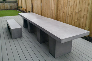 CONCRETE DINING TABLES (RECTANGLE) INDOOR AND OUTDOOR