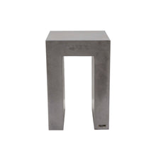 Load image into Gallery viewer, 60cm high concrete side end table shown in urban grey colour. upside down u shape with square edges