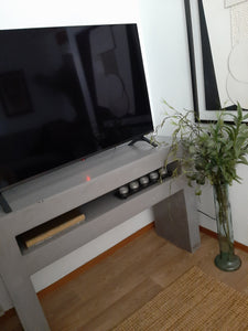 CONCRETE TV CONSOLE/UNIT 'HIGH' (GRC) 120CM