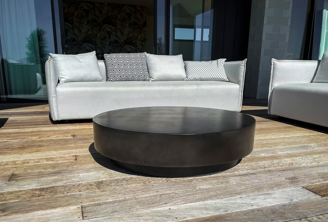 CONCRETE COFFEE TABLE ROUND 'TIERED' (GRC) 120cm x 30cm HEIGHT®