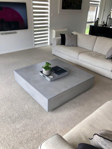 CONCRETE COFFEE TABLE SQUARE 'LOW FLOATING' (GRC) 120cm x 30cm HEIGHT