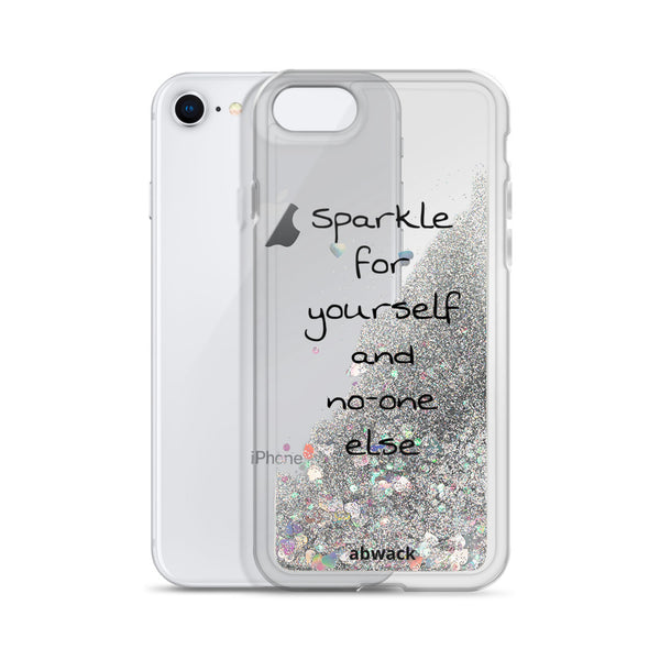 Sparkle for yourself Liquid Glitter IPhone Case