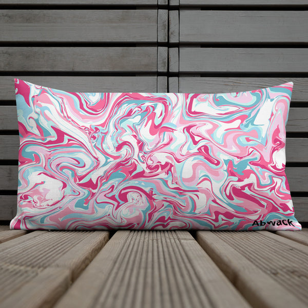 'Pink Marble' Pillow
