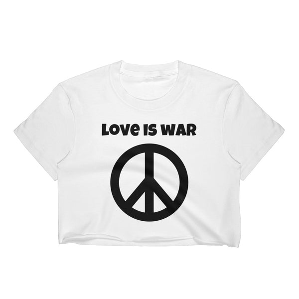 'love is war' Women's Crop Top