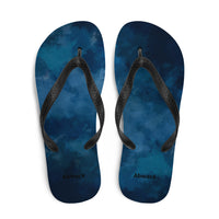 The night sky Flip flops