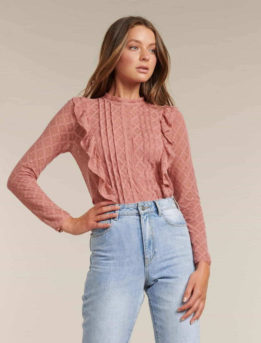 Ever New Bailey Pintuck Lace Shell Top
