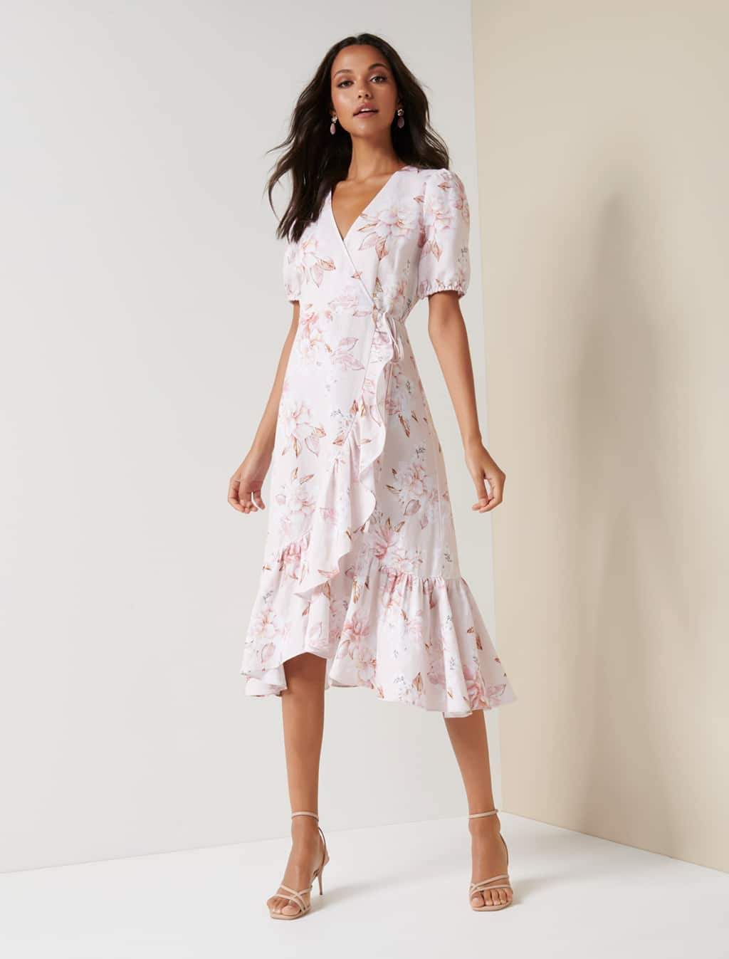 Ever New Candice Floral Wrap Dress