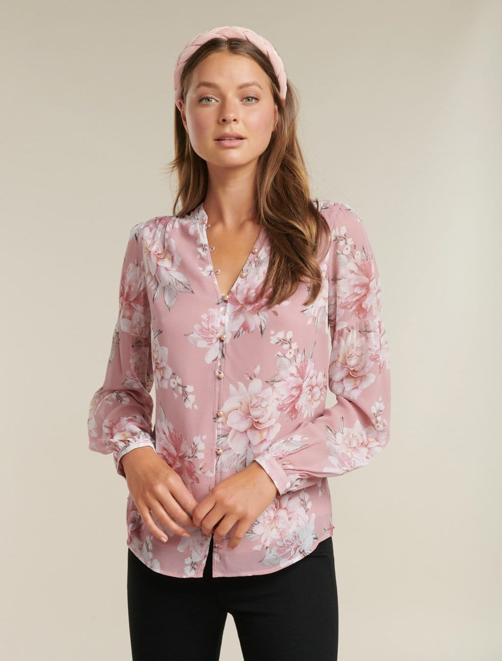 Ever New Melanie Button Up Blouse