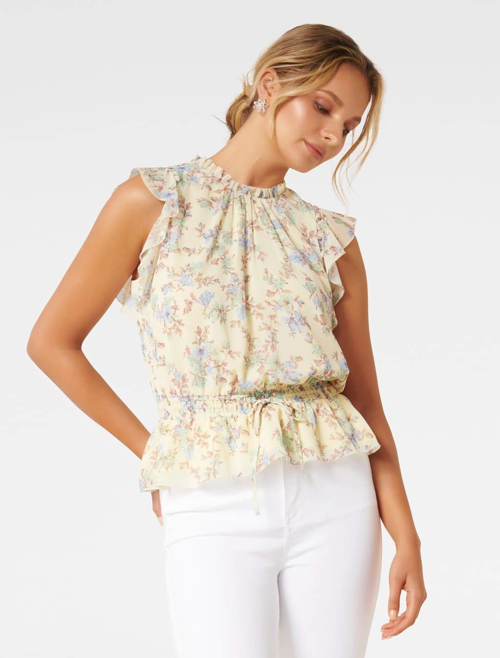 Ever New Portia Ruffle Floral Tank Top