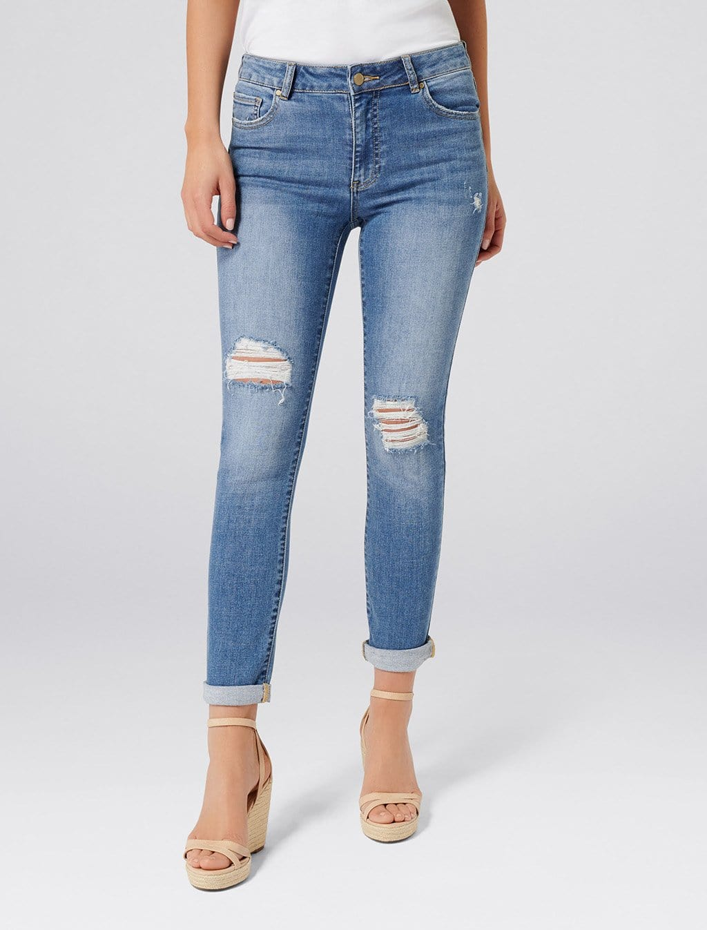 Ever New Emmy Mid Rise Girlfriend Jeans