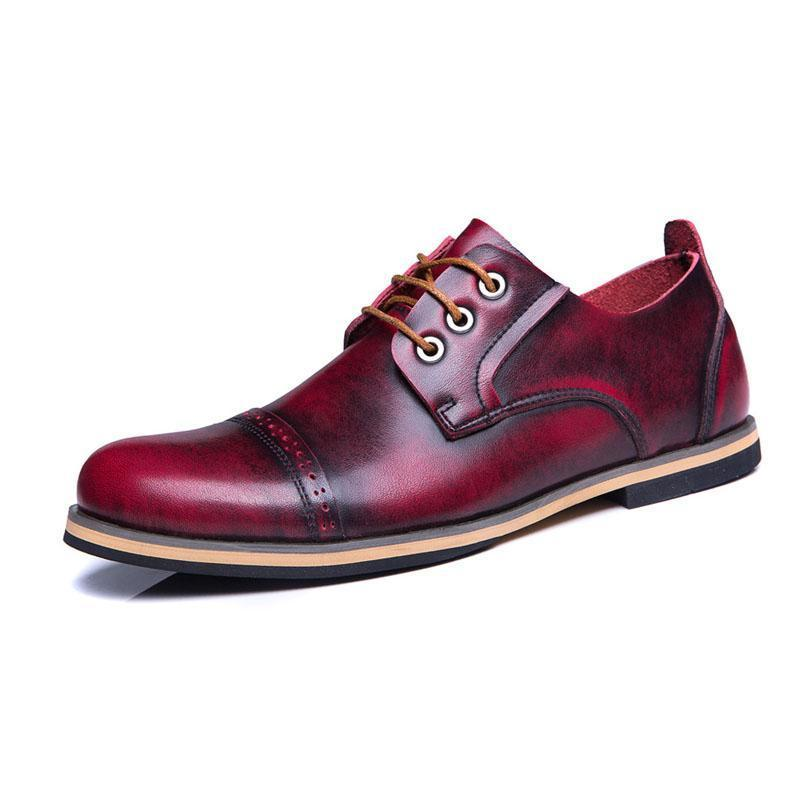 Casual vintage men's shoes leather Martin shoes
