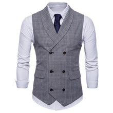 Load image into Gallery viewer, Elegant Business Slim Fit Check Vest