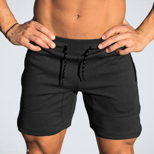 Casual Plain Elastic Waist Short Pants