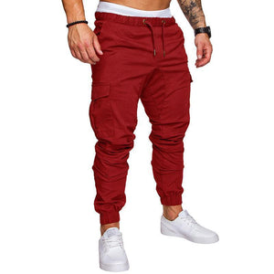Multi-Pocket Solid Color Slacks Pants 10 Colours