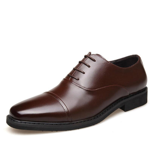 Fashion Business Plain Blinding Leather Shoes